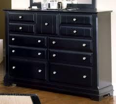 Vaughan Bassett Triple Dresser by All American Cottage Collection 9 Drawer Triple Dresser In Black