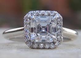 asscher cut halo engagement rings Google Search