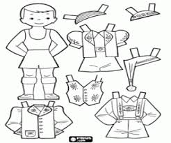 Doll To Dress Up In Typical Costumes From Switzerland Or The Tyrol Coloring Page