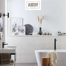 in einem so modernen badezimmer ist schöner wohnen