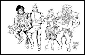 Wizard Of Oz Munchkins Coloring Page Free Printable Pages And
