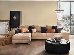 vlies unitapete einfarbig beige braun creme wohnzimmer