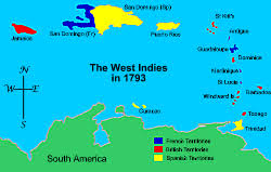 Map Of The West Indies Campaigns