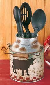 Cow Kitchen Rustic Farm Animal Metal Milk Can Decor
