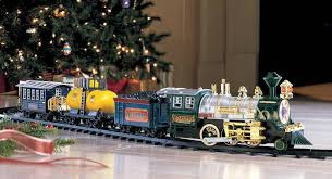 This Deluxe Choo Train Chugs Its Merry Way Around Your Christmas Tree Into Heart The Locomotive Headlamp Lights And Chimney Smokes While