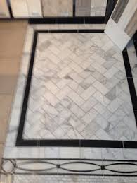Marble Tile Floor With Black Border