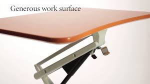 levenger sit to stand rolling workstation video youtube