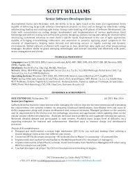Sample Resume Software Developer Experience Senior Engineer For With