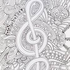 Merry Music Color Pages A Musical Page From Me Happy Part Of The Zen Coloring
