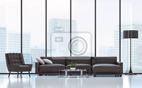 modernes wohnzimmer 3d rendering image there sind weißer boden möbliert bilder myloview
