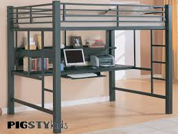 bed with desk above twin over futon metal bunk bed with futon on
