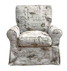 Sunset Trading Horizon Slipcovered Box Cushion Swivel Rocking Chair ...