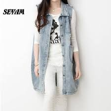 compare prices on denim vest for women online shopping buy low
