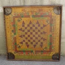 Antique Carrom Board Early 1900s Vintage Double Sided Game