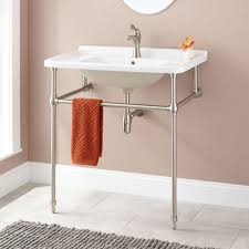 Kohler Memoirs Pedestal Sink Sizes by Bathrooms Design Console Sink Brushed Nickel White Sinks For