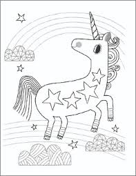 Valentines Day Coloring Page Unicorn