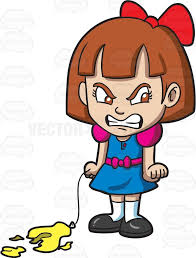 Angry Little Girl Clipart ClipartXtras