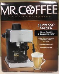 Mr Coffee Espresso Machine 4 Cup Steam Cappuccino Maker BVMC ECM260 1