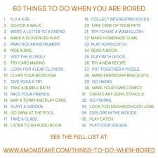 Summer Boredom Can Be Chased Away Just Print This Free Printable List With 60 Things
