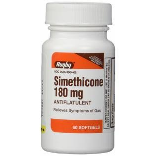Rugby Simethicone Gas Relief for Phazyme - 60 Softgels, 180mg