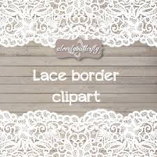 Wedding Clipart Lace Border Rustic Shabby Chic