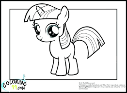 My Little Pony Coloring Pages Twilight Sparkle Alicorn Of Page Glamorous Princess Full