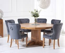 Torino 150cm Solid Oak Round Pedestal Dining Table With Knightsbridge  Velvet Chairs Sunset Trading Co Selections Round Dinette Table Winners Only Quails Run 5 Piece Pedestal And 42 Ding With 4 Side Chairs Shown In Rustic Hickory Brown Maple An Asbury Finish Oak Set Rustica 54 W What I Want For My Kitchena Small Round Pedestal Table Archivist Crown Mark Camelia Espresso Glass Top Family Wood Kitchen Room Breakfast Fniture Modern Unique Sets Design Models New Traditional Cophagen 3piece Cinnamon