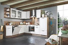 landhaus l küche weiß eiche 2383 nur die kuechen boerse