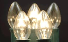 traditional c7 transparent twinkle light bulb box of 25