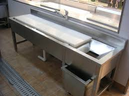 Fish Cleaning Station With Sink by 13 Stainless Fish Cleaning Table With Sink Commercial