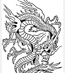 Dragon Coloring Sheets Combined With Art Pages New Year Detailed For Adults Difficult Sh Detail