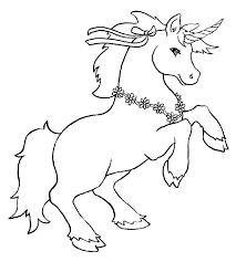 Unicorn Color Page Cute Coloring Pages Flying Sheets Realistic Printable