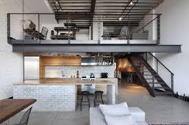 Extraordinary Urban Rustic Kitchen Design Wooden Barstool Creative Island White Brick Backsplash Wallpapaer With