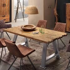 designer esszimmer tisch mit recyclingholz zia