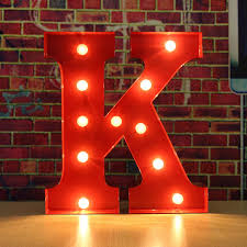Amazoncom Light Up Decorative Letter LAFEINA LED AZ Letters
