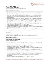 Bilingual Translator Resume - PDF Format   E-database.org 910 How To Say Resume In Spanish Loginnelkrivercom 50 Translate Resume Spanish Xw1i Resumealimaus College Graduate Example And Writing Tips Language Proficiency Levels Overview Of 05 Examples Customer Service Samples Howto Guide Resumecom Translator Templates Visualcv Free Job Application Mplate Verypageco 017 Business Letter In Format English Valid Teacher Beautiful Template Letters Informal Luxury 41 Magazines Magazine Gallery Joblers