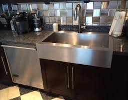 Drop In Bathroom Sink With Granite Countertop by Kitchen Sink Types Undermount Farmhouse Apron Drop In