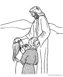 Gallery Of To Print Jesus And Children Coloring Page 79 For Pages Online With