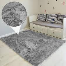hochflor teppich 200x300 cm langflor shaggy teppiche für wohnzimmer flauschig bettvorleger schlafzimmer hellgrau