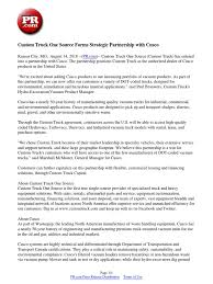 Custom Truck One Source Forms Strategic Partnership With Cusco ... 2018 Peterbilt 337 Tampa Fl 5003263999 Cmialucktradercom Kansas City 2015 Bright White Jeep Wrangler Unlimited Custom 4 5 Truck One Source Revitalizing Citys Industrial Refrigerated Trailer Rental St Louis Pladelphia Cstk 2004 Sterling Lt7501 Cab Chassis For Sale Auction Or Lease Westfall Gmc Serving Gladstone Liberty Mo Equipment Announces Supply Agreement With Richmond Bethannesboutique2vehiclewraps Graphic Design Services In Installation Roadside Service 911rr 104 Magazine Todays Trucker Outside The Box Trucks For Unique Businses Apex Specialty Vehicles