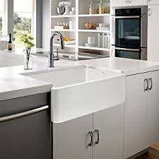 Farmhouse Style Sink by Houzer Ptg 4300 Wh Platus Series Apron Front Fireclay Single Bowl