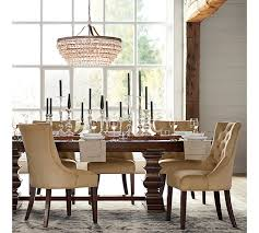 Pottery Barn Aaron Chair Espresso by Banks Extending Dining Table Pottery Barn