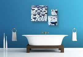 glasbild waterdrops 3 teilig