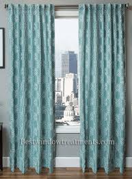 108 Inch Blackout Curtains by Booker Embroidered Chain Stitch Curtain Drapery Panel