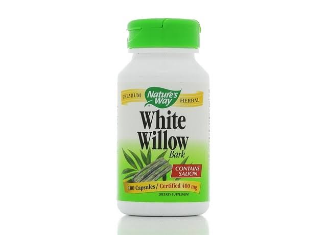 Nature's Way White Willow Bark - 100 Capsules