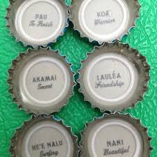 Hawaiian Phrases Bottle Tops