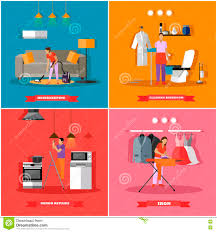 cleaning and home service concept vector illustration
