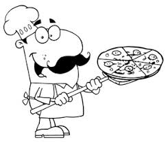 Chef clipart black and white free images 6