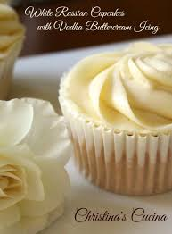 White Russian Cupcakes With Vodka Buttercream Icing