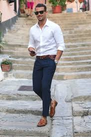 Navy White Outfit Inspiration For Men